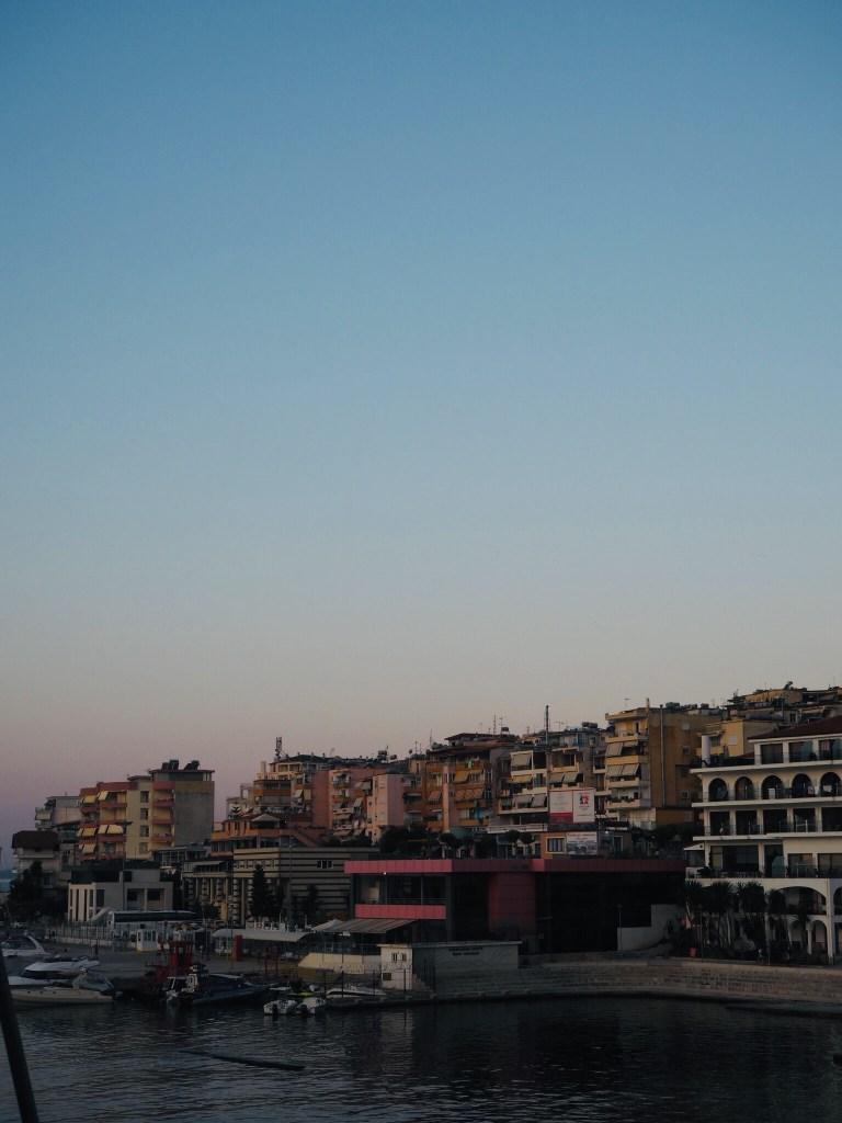 sunset in Saranda Albania