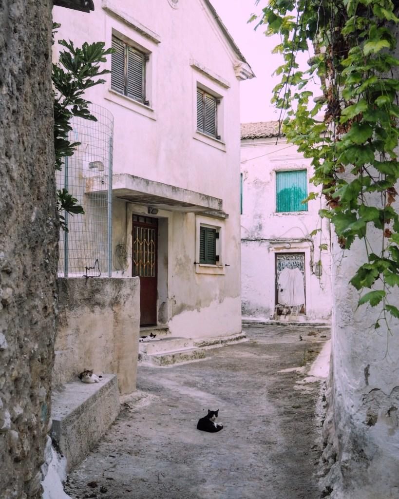 a beautiful village in corfu