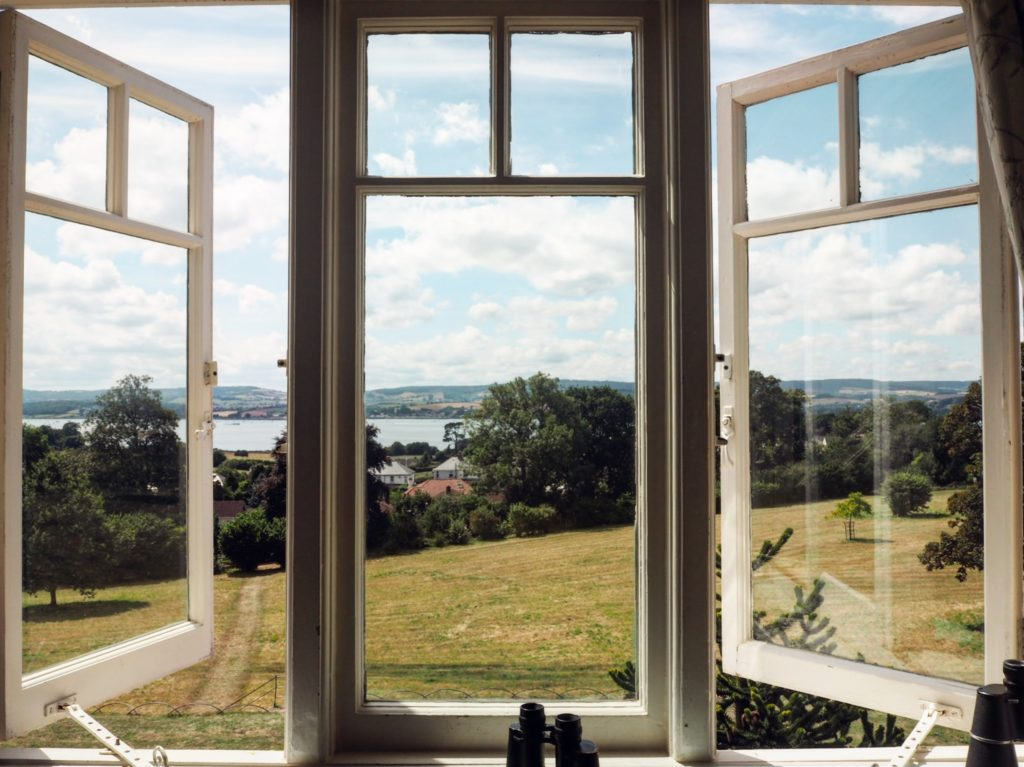 view from the window - National trust properties in Devon