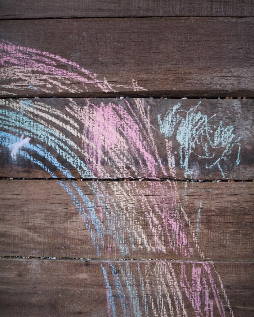 lockdown activities with chalk