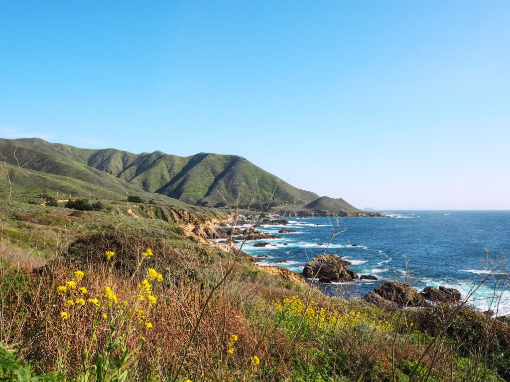 stunning scenery on a Big Sur road trip