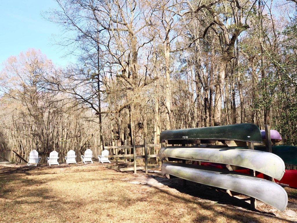 canoes by the Lumbee River, Riverton North Carolina