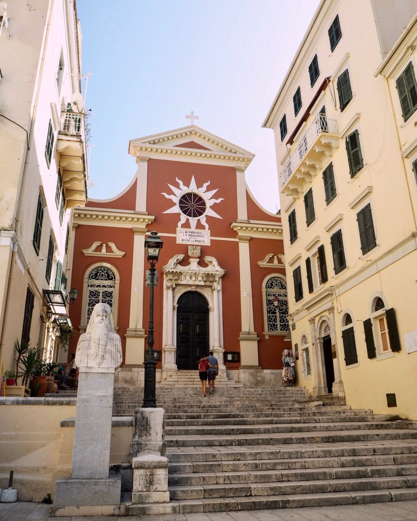cathedral in Corfu Town