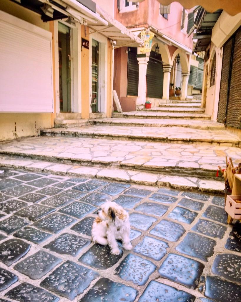 early morning in Corfu Town