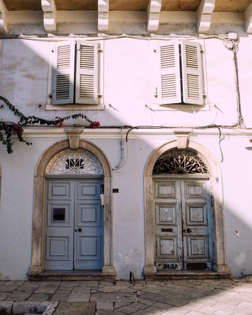 doorways in Corfu Old Town
