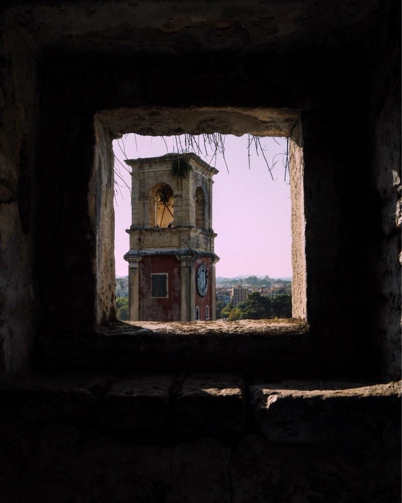 a window in Corfu Old Fortress