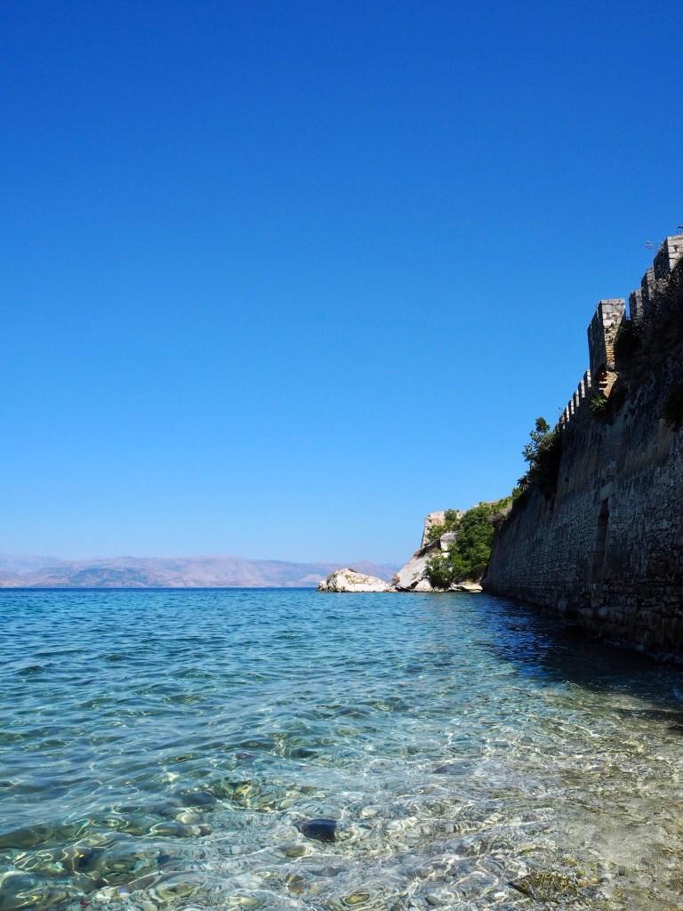 view of Albania from Kerkyra