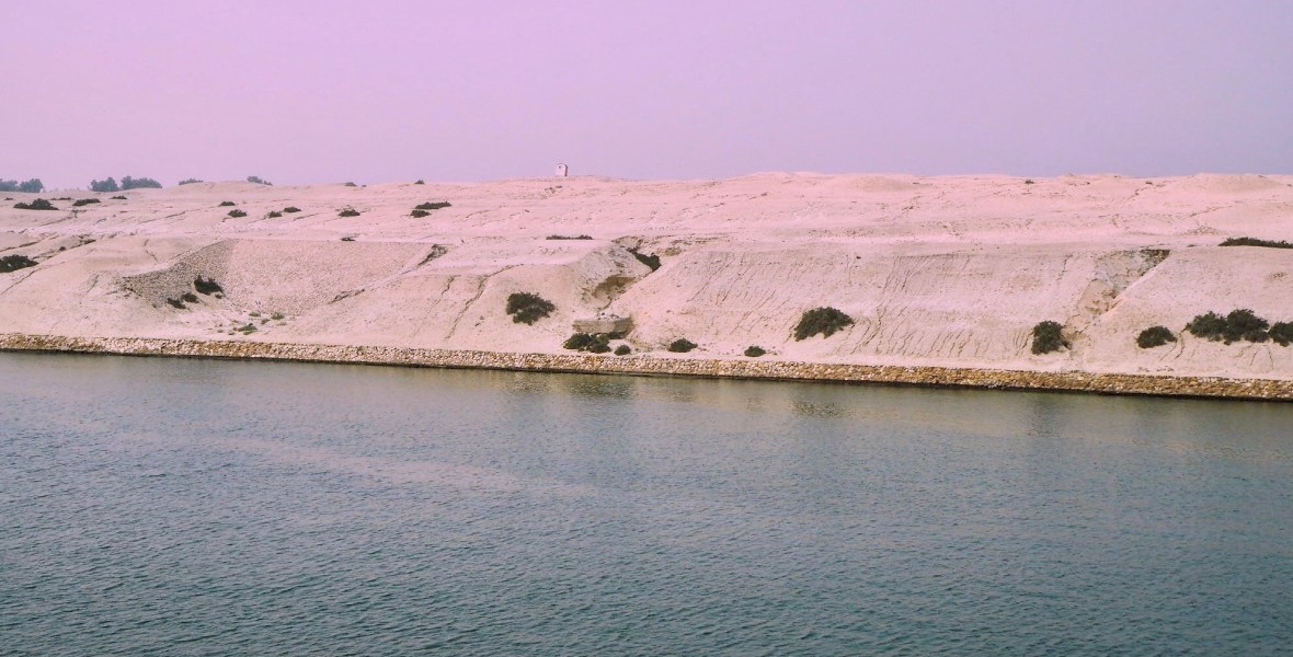 fishermen on the Suez Canal