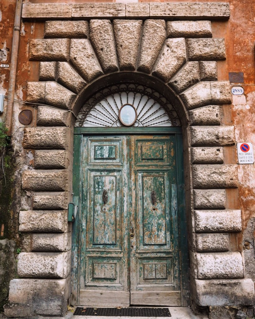 a doorway in Trastevere