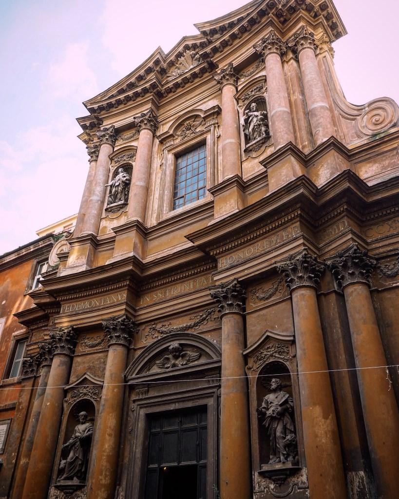 orange tinted buildings in Italy