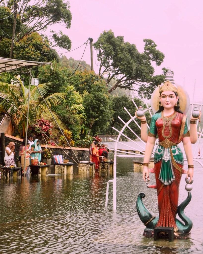 Hindu devotees at Grand Bassin in Mauritius