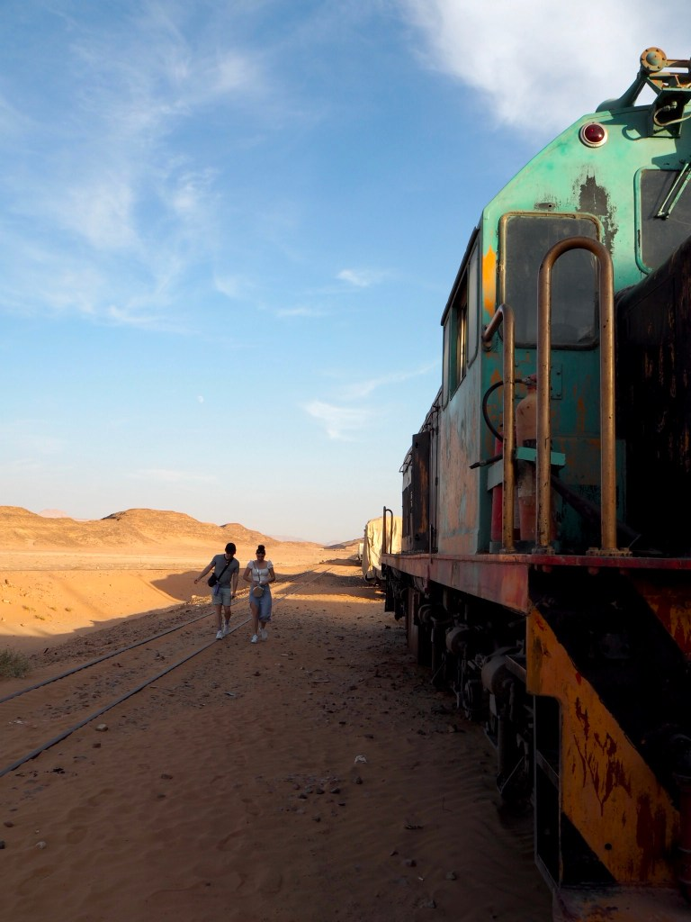 the Hejaz Railway steam train in Wadi Rum