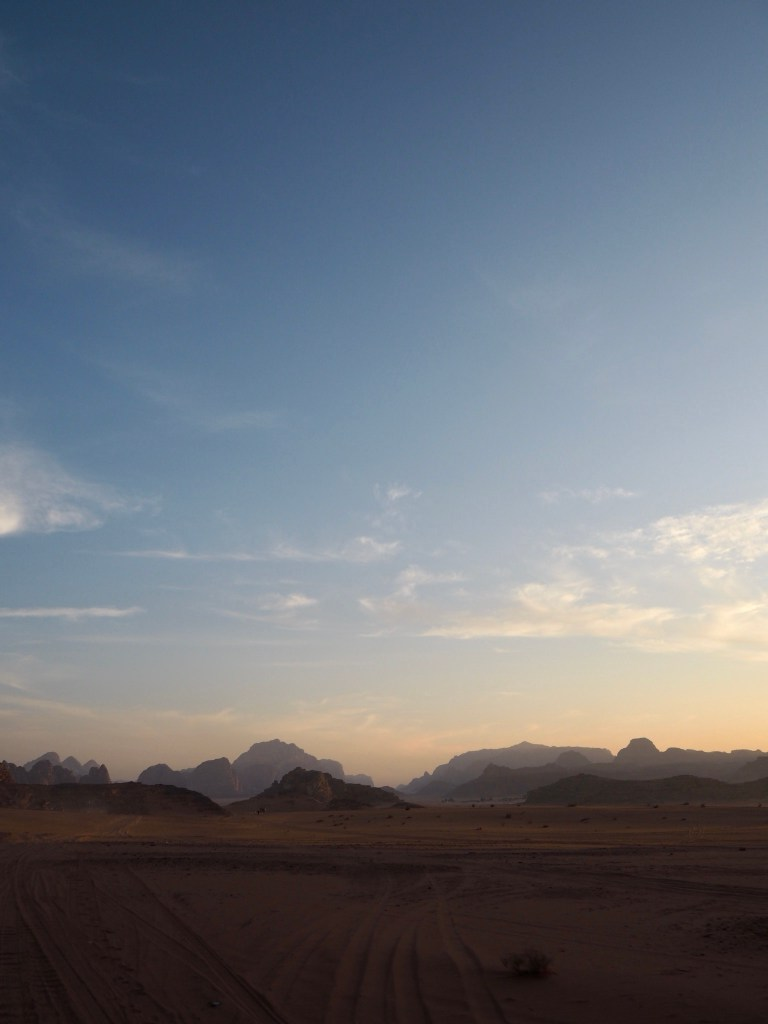 sunset on a Wadi Rum jeep tour