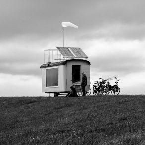 Expeditie project op de dijk bij Lies tijdens Oerol 2016.