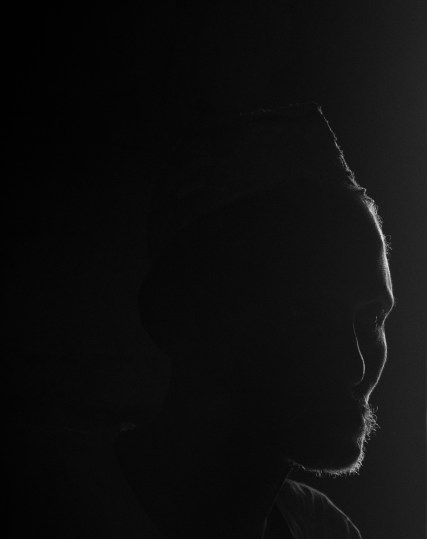 The silhouette of a man from the Fular tribe.
