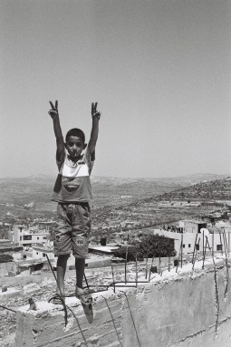 Palestinian boy in Jenin, 2004.