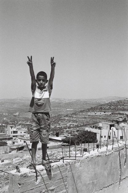 Palestinian boy in Jenin, 2004.