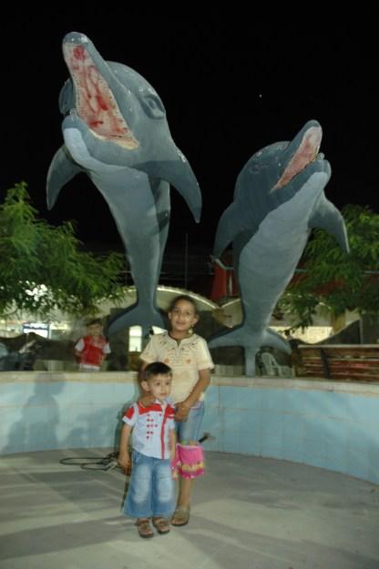 Water park in Ramallah, Palestine. 2004.