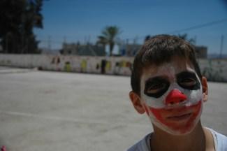 Facepainting in Nablus, Palestine. 2006.