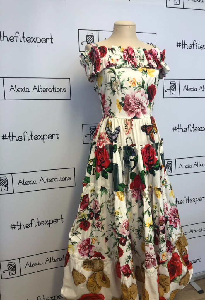 Dolce and Gabbana dress altered by Alexia Alterations in London knightsbridge