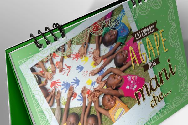 Progettazione grafica calendari Agape Onlus