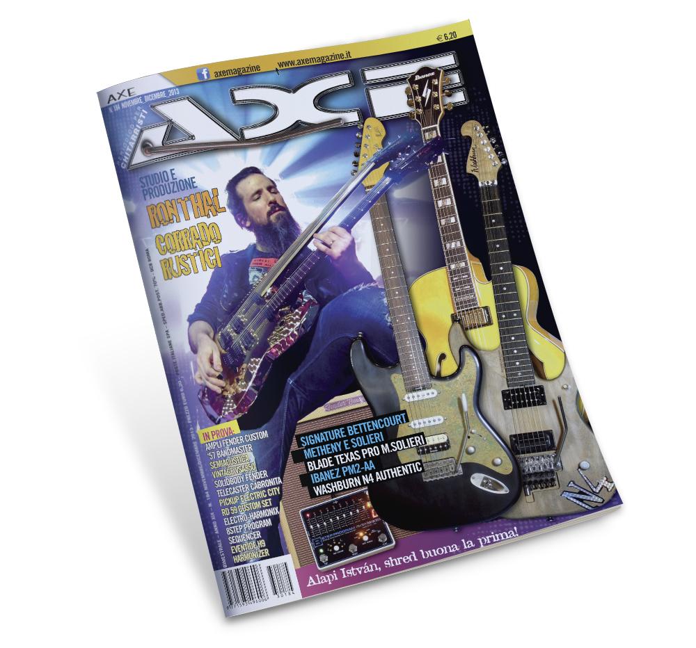 Impaginazione grafica rivista Axe