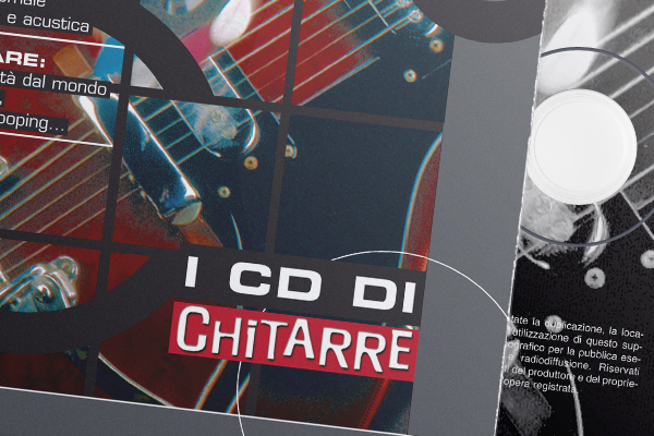 Creatività grafica packaging cd Chitarre