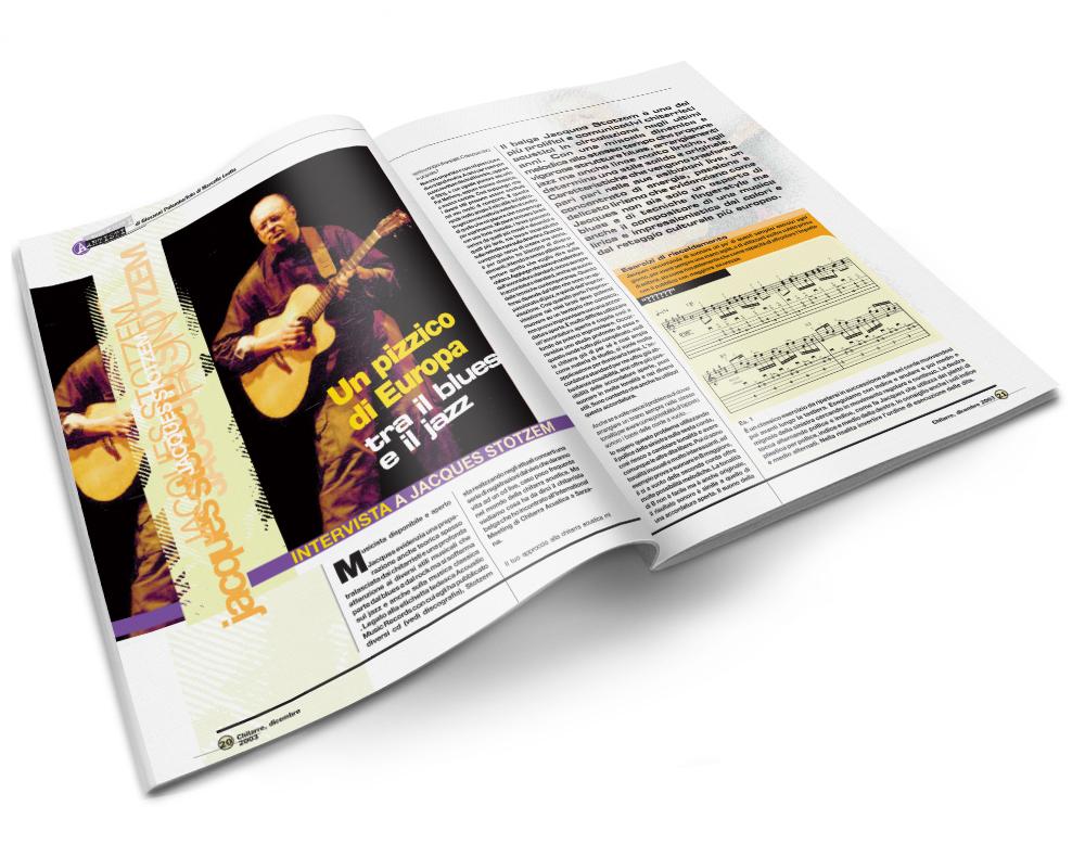 Impaginazione grafica rivista Chitarre