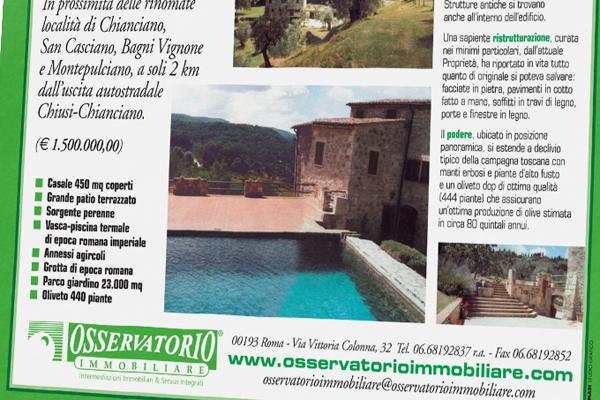 Creatività pagine pubblicitarie Osservatorio Immobiliare