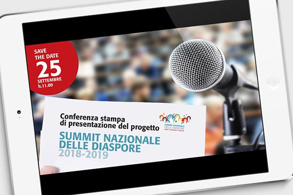 Grafica eventi Summit Nazionale delle Diaspore 2018 | alexiamasi.com
