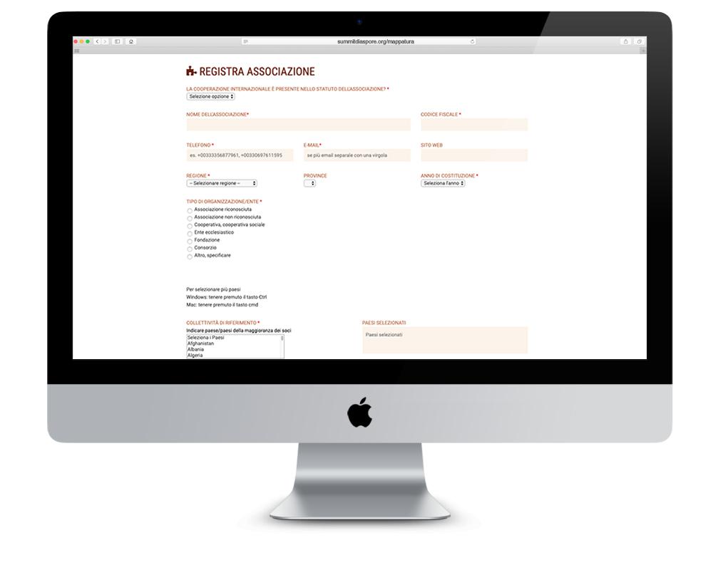 Realizzazione Database Summit Nazionale delle Diaspore - mappatura | alexiamasi.com