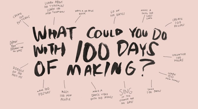 That time I started another challenge, this time for 100 days…