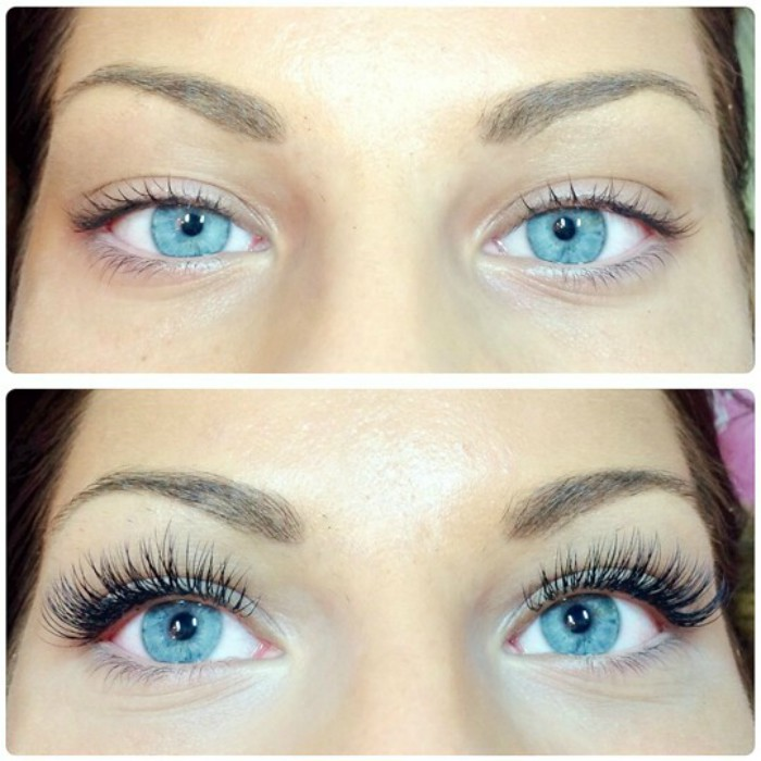 Eyelashes Extensions: Before and After
