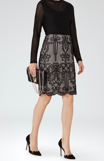 Reiss Lace Pencil Skirt £120