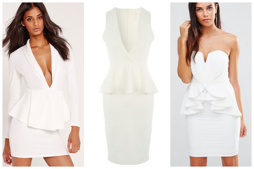 white-peplum-dresses