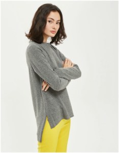 Topshop cut and sew sweatshirt