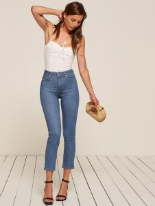high & straight jeans