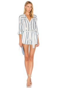 blue and white stripe playsuit