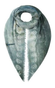 Alexander McQueen Waterlily Skull Scarf