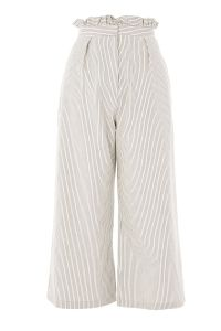 Stripe Ruffle Waist Trousers