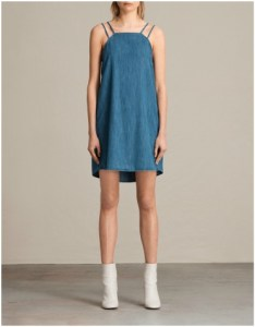 All Saints Blue Hally Denim Dress