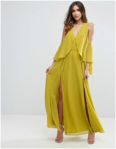 ASOS Drape Cold Shoulder Maxi Dress