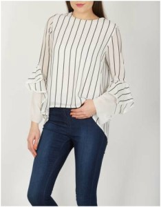 Dorothy Perkins Isabel London White Long Sleeve v-neck top
