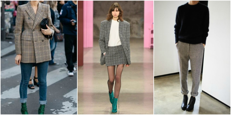 AW17 fashion trends tailoring checks