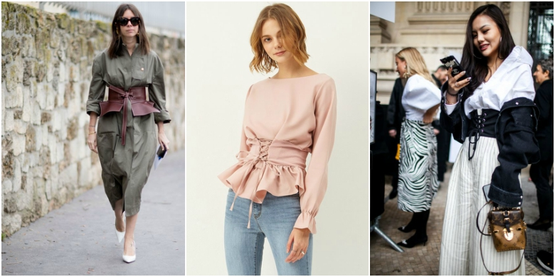AW17 fashion trends corset belts
