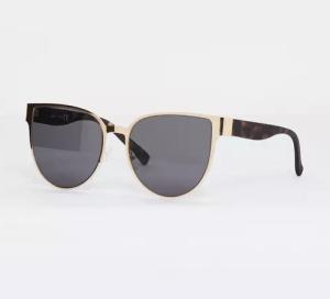 Missguided gold flat metal cat eye sunglasses