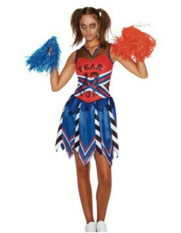 tesco zombie cheerleader halloween costume 16
