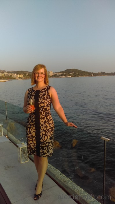 Photo of the author by the sea in Athens
