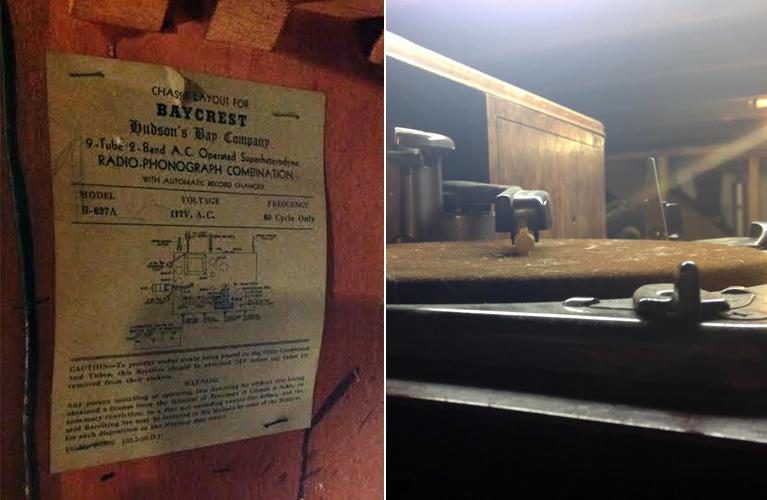 Hudson's Bay, Baycrest radio-phonograph model B637-A