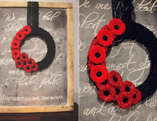 Remembrance Day Glittered Poppy Wreath | Alex Inspired